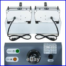 2PCS Electric 16L Dual Tanks Deep Fryer Commercial Tabletop French Fry Fast Food