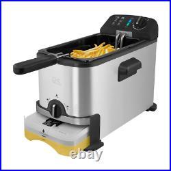 3.2 Qt. Stainless Steel Filtration Deep Fryer