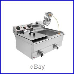 3000W Double Tank Electric Deep Fryer Machine Cooking Tools with Basket & Timer
