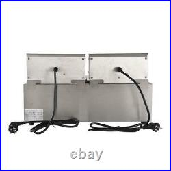 3600W 16L Electric Countertop Deep Fryer Dual Tank Commercial Restaurant Basket