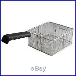 3600W 20L Electric Countertop Deep Fryer Dual Tank Commercial Restaurant Steel