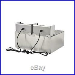 3600W Electric Deep Fryer 16 Liter Commercial Tabletop Restaurant Fry Basket
