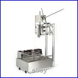 3L Machine Churrera Churros Filler Manual Spanish Donuts Maker with 12L Deep Fryer