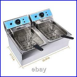 4000W Electric Deep Fryer 16L Commercial Tabletop Restaurant +Fry Basket