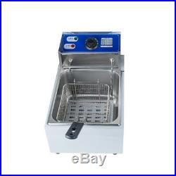 5.5L Electric Countertop Deep Fryer Commercial Basket French Fry Restaurant2500W