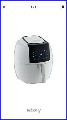 5.8 Qt. 8-in-1 White Air Fryer with 6-Piece Accessory Set and 50-Recipes Book
