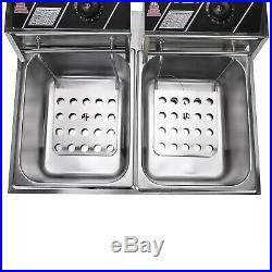 5000W 12.7QT Stainless Steel Electric Deep Fryer Home Commercial Restaurant