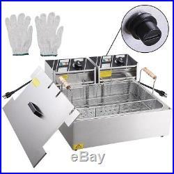 5000W 20L Electric Countertop Deep Fryer Fry Basket Home Commercial Restaurant