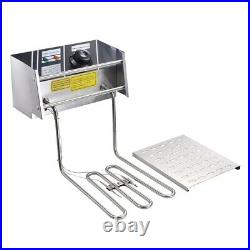 5000W 20L Electric Deep Fryer Stainless Steel Single Large Tank Basket Fish Fry