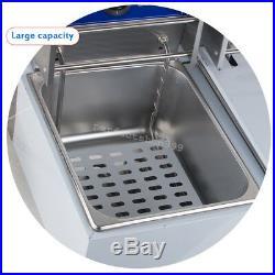 5000W Electric 11L Dual Tanks Deep Fryer Commercial Tabletop Restaurant+2 Basket