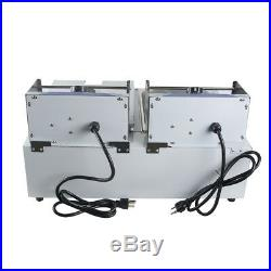 5000W Electric 11L Dual Tanks Deep Fryer Commercial Tabletop Snack Fast Food Fry