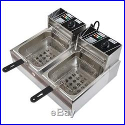 5KW 60Hz Home Use Parallel Bars Electric Fryer 110V Silver Gray & Black Metal US
