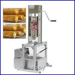5L Churro Making Machine Spanish Churro Twisted Stick Machine with 6L Deep Fryer