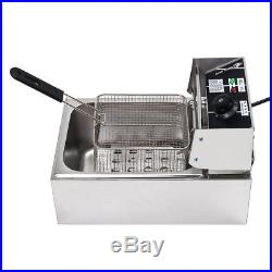 6L 2500W Commercial Electric Deep Fryer Kitchen Restaurant Frying Chip with Basket