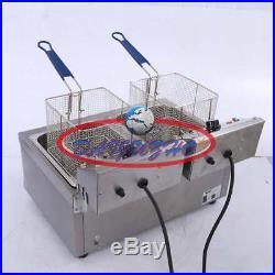 8.5L Frying Pan Single Cylinder Electric Deep Fryer Potato Chicken Churros 220V