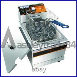 8.5L Single Cylinder Electric Deep Fryer Frying Oven For Potato Chicken 220V