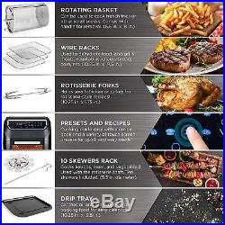 8-In-1 Electric Deep Fryer XL Air Oven Rotisserie Dehydrator Cooking Set