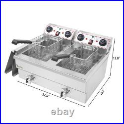 8L/16L Commercial Electric Deep Fryer French Fry Bar Restaurant Tank with Basket