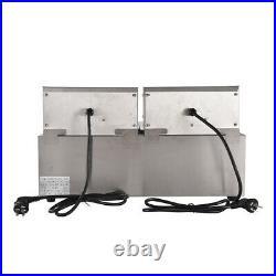 8L+8L Electric Deep Fryer Dual Tank Commercial Countertop Fry Basket 1.8kW+1.8kW