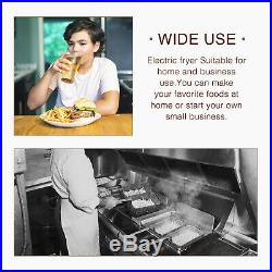 8L Commercial Electric Deep Fryer French Fry Home Bar Restaurant Tank with Basket