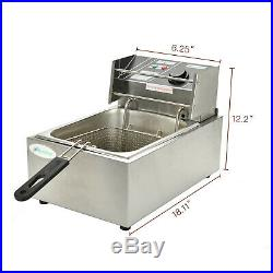 8L Electric Deep Fryer Countertop Basket French Fry Restaurant Home Commercial