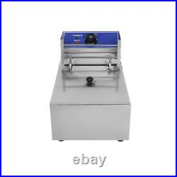 8L Electric Deep Fryer Stainless Steel 0-200 Temperature Control Frying Basket