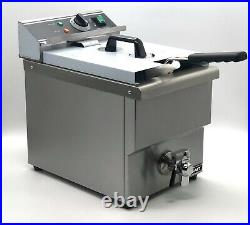 ADCRAFT DF-12L One Tank Professional Restaurant Electric Counter Deep Fryer 25lb