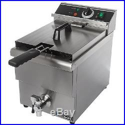 Adcraft DF-12L 13lb Single Tank Electric Counter Top Deep Fryer with Faucet