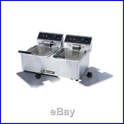 Adcraft DF-6L/2 Double Electric Countertop Deep Fryer