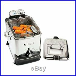 All-Clad EJ814051 3.5 L Easy Clean Pro Stainless Steel Deep Fryer with Digital