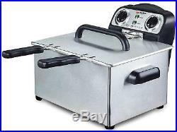 Alpina SF-4008 220 Volt 3.5L Deep Fryer Twin Bowl 220V 240V For Export Only