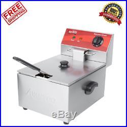 Avantco 10 lb 120V Electric Restaurant Compact Countertop Commercial Deep Fryer
