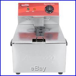Avantco F100 10 lb. Electric Countertop Deep Fryer 120V, 3500W