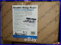 Avantco F102 20 lb. Dual Tank Electric Countertop Deep Fryer 120V, 3500W