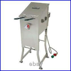 Bayou Classic 4 Gallon Stainless Steel Bayou Deep Fryer, Silver (Damaged)