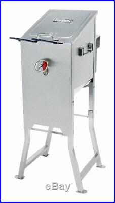 Bayou Classic 700-701 4 Gal. Stainless Steel Propane Deep Fryer with 2 Baskets