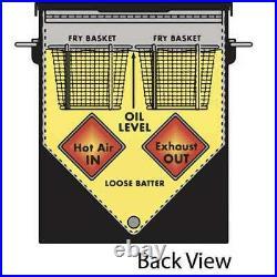 Bayou Classic Freestanding 4 Gallon Stainless Steel Deep Fryer, Silver(Open Box)