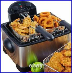Best Deep Fryer Home Electric Freidora Electrica Doble Fry Fish Chips Filter