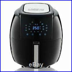Black 8-in-1 Electric Plastic Air Deep Fryer 5.5 Liter Home Kitchen Cooking