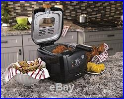 Black Electric Deep Fryer Cooking Oil with Cool Touch Hamilton Beach Home