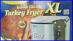Butterball XL Electric Turkey Deep Fryer Steam Boil Stainless Steel Indoor Timer