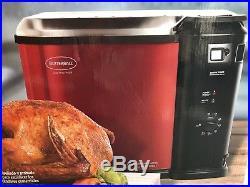 Butterball XL Turkey Fryer Electric Deep Fryer Steamer Boiler Cooker Red NEW
