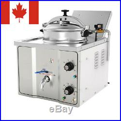 CA Electric Pressure Fryer Commercial Deep Fryer Food Chips Potato Chicken Oven