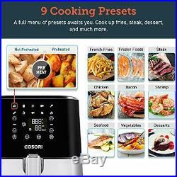COSORI Air Fryer(100 Recipes, Rack & 4Skewers), Stainless Steel Electric Air Fryer