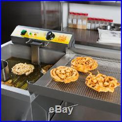 Carnival King Commercial 25lb Funnel Cake Deep Fryer Donut Maker 120V