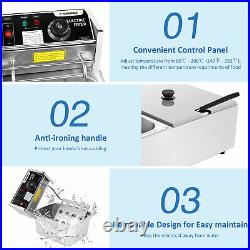Casulo-3600W Commercial Deep Fryer Electric Deep Fryer with Baskets 12.7QT Best