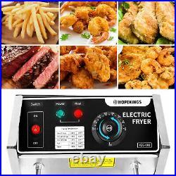 Casulo3600W Commercial Deep Fryer Electric Deep Fryer with BasketsX12.7QT6.34