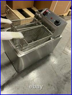 Cecilware EL25 Stainless Steel Electric Commercial Countertop Deep Fryer