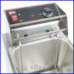 Cecilware Electric Commercial Countertop Deep Fryer 15 lb. Fry Tank 240V, 3200
