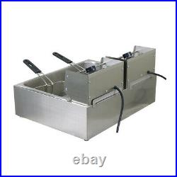Chef Electric Commercial Large Deep Fryer Frying Basket Chip Cooker 5000W